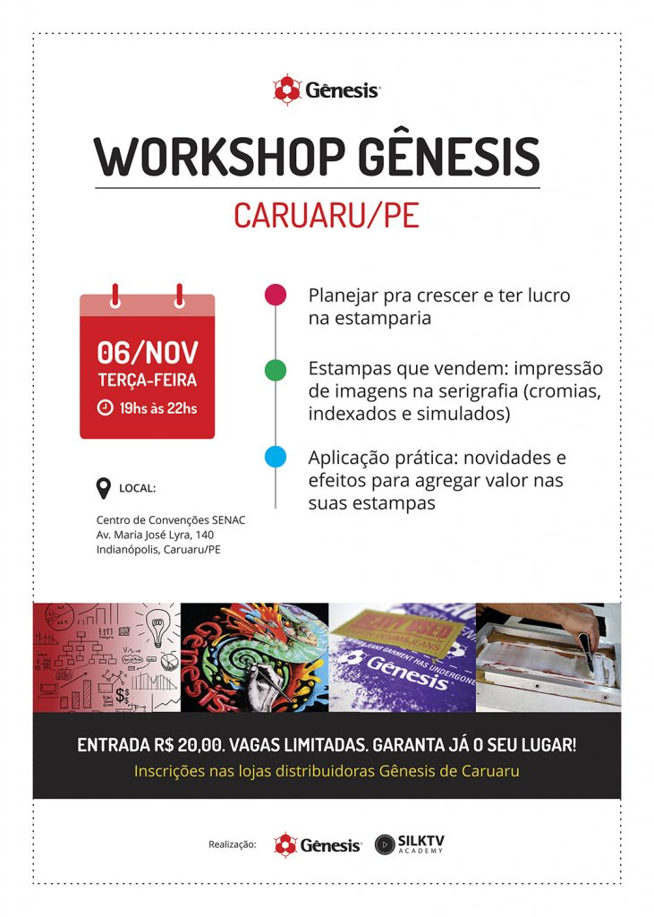 Workshops Gênesis Pernambuco Novembro 2018